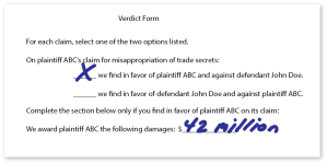 completed-verdict-form-for-trade-secret